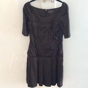 La perla brown silk dress
